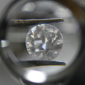 Actual 1/3 carat genuine diamond before firing