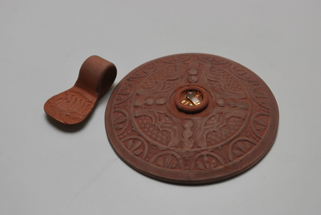 6 Bronze pendant with bail unattached