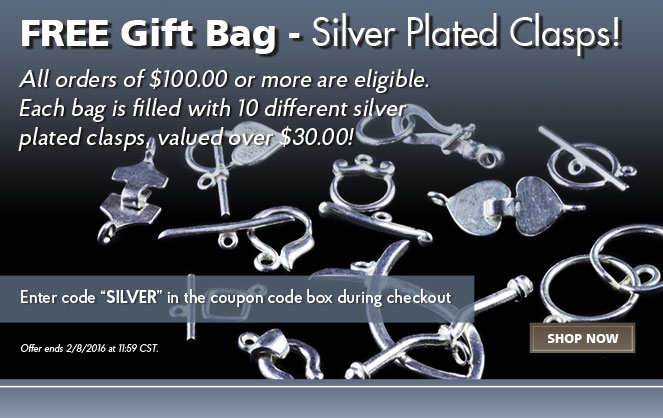 Free Gift Bag – Silver Plated Clasps
