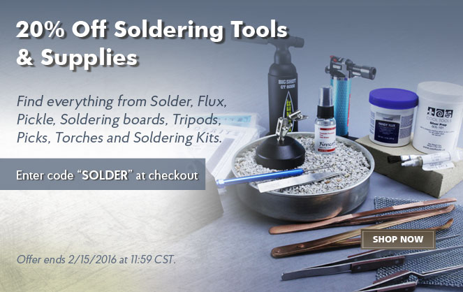 20% Off Soldering Tools & Supplies