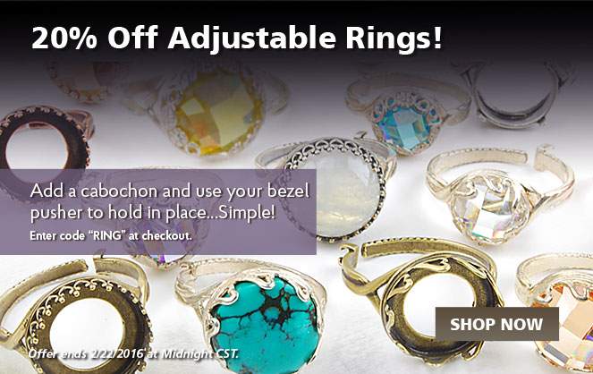 20% Off Adjustable Rings