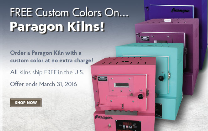 Free Custom Colors on Paragon Kilns
