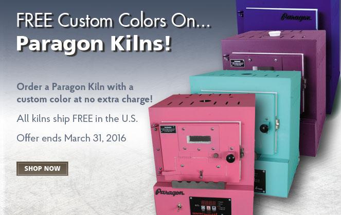 Free Custom Colors on Paragon Kilns