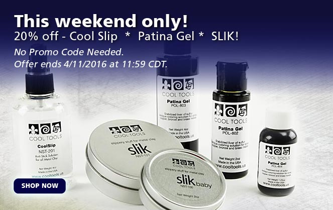 20% off - Cool Slip  *  Patina Gel *  SLIK