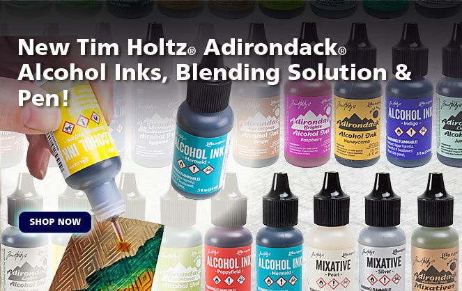 Tim Holtz® Adirondack® Alcohol Inks, Blending Solution & Pen