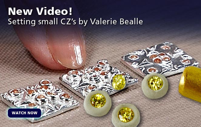 Setting Small Gemstones in Silver Metal Clay