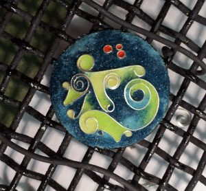 Cloisonné Enamel Button - Unfired